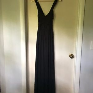 Sexy black gown, size 2